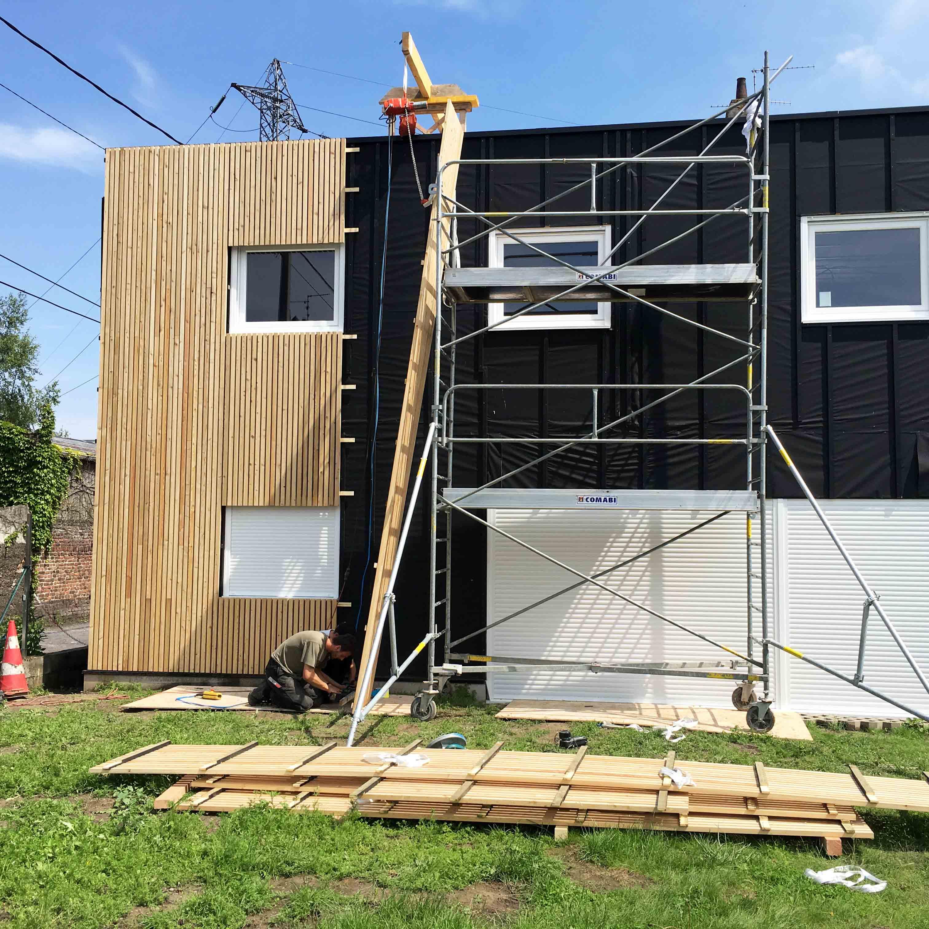 Bardage bois Hellemes Maison Particulière - Charpentier des Flandres