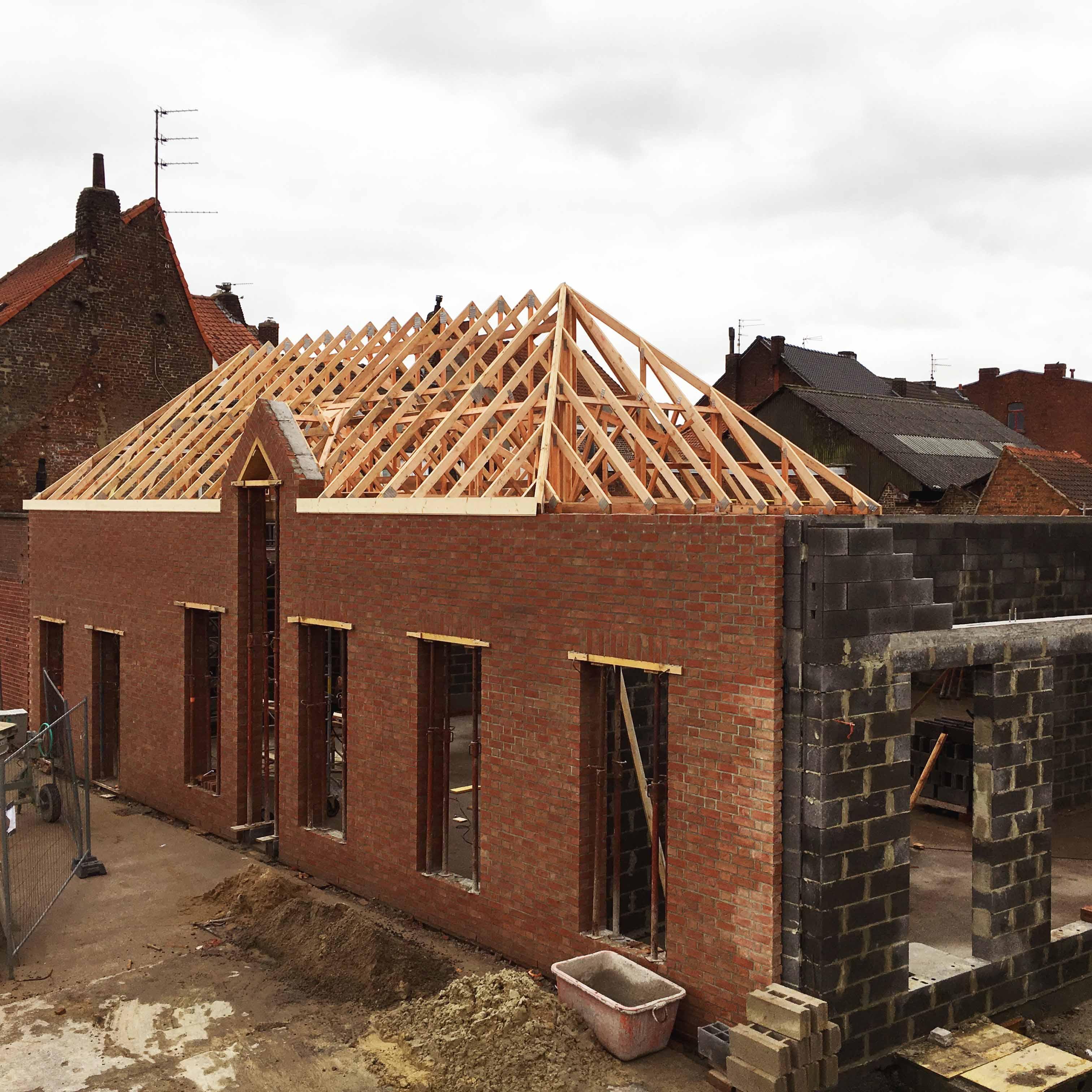 Charpente Industrielle Werwicq Sud Ecole Saint Joseph - Charpentier des Flandres
