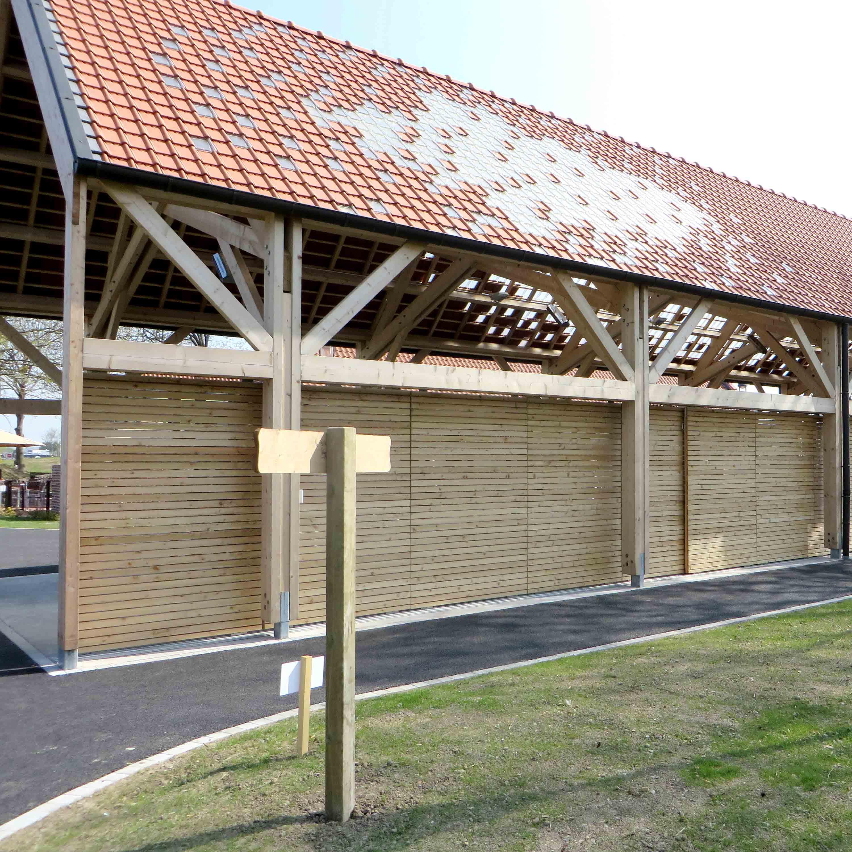 Charpente bois traditionnelle Marcq-en-Barœul Fermes aux oies - Charpentier des Flandres