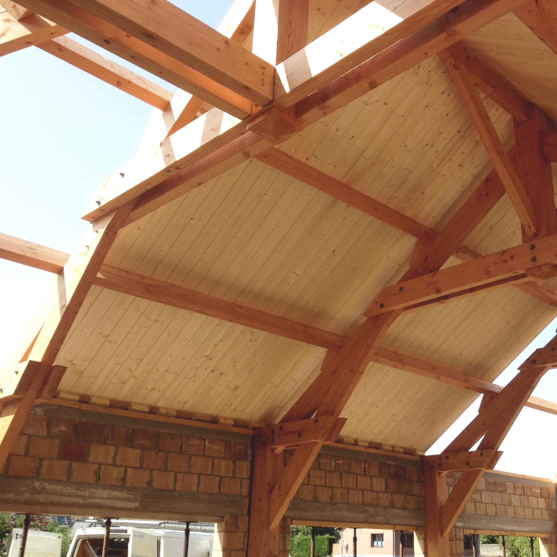 Charpente bois traditionnelle Merlimont Piscine - Charpentier des Flandres