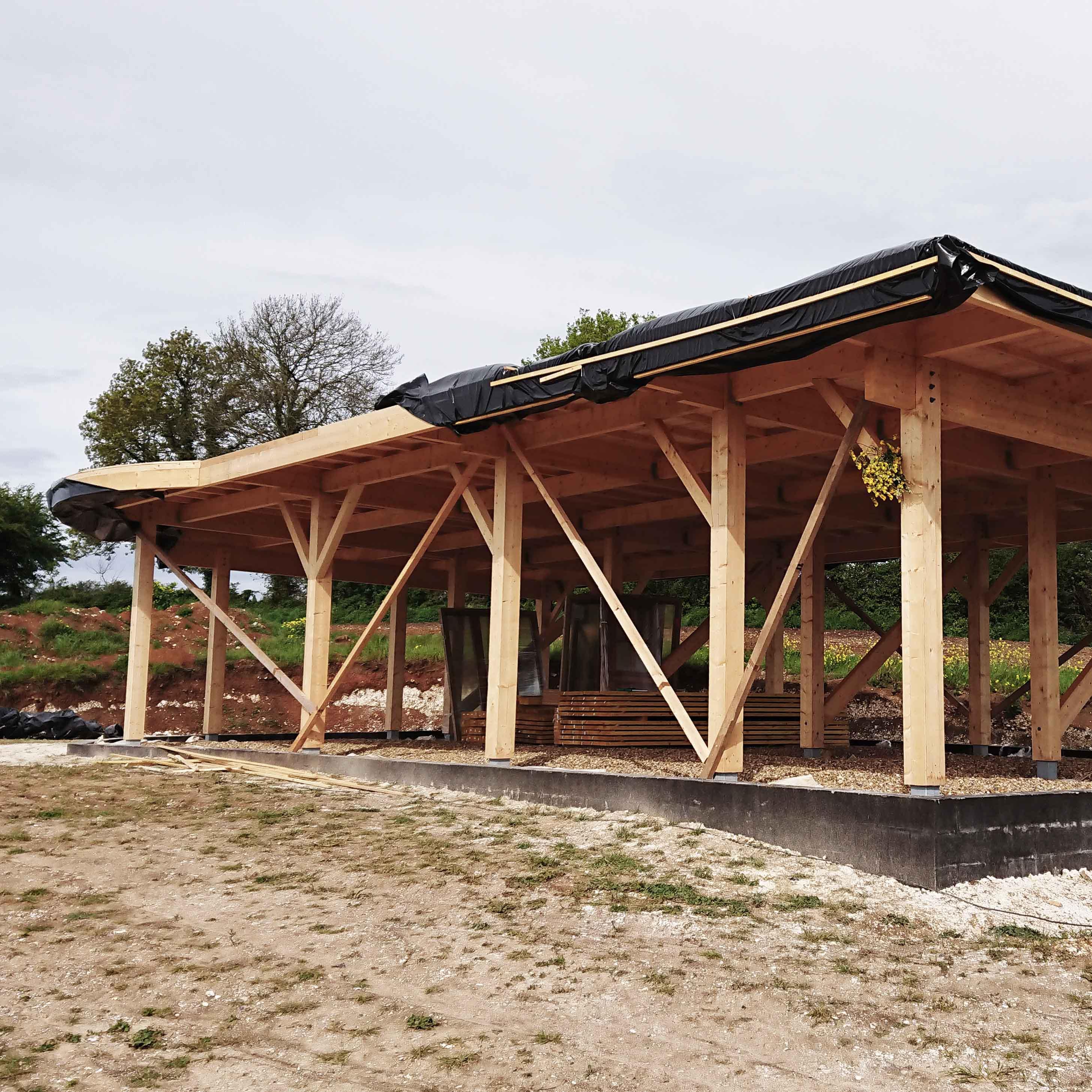 Charpente bois traditionnelle Moringhem - Charpentier des Flandres