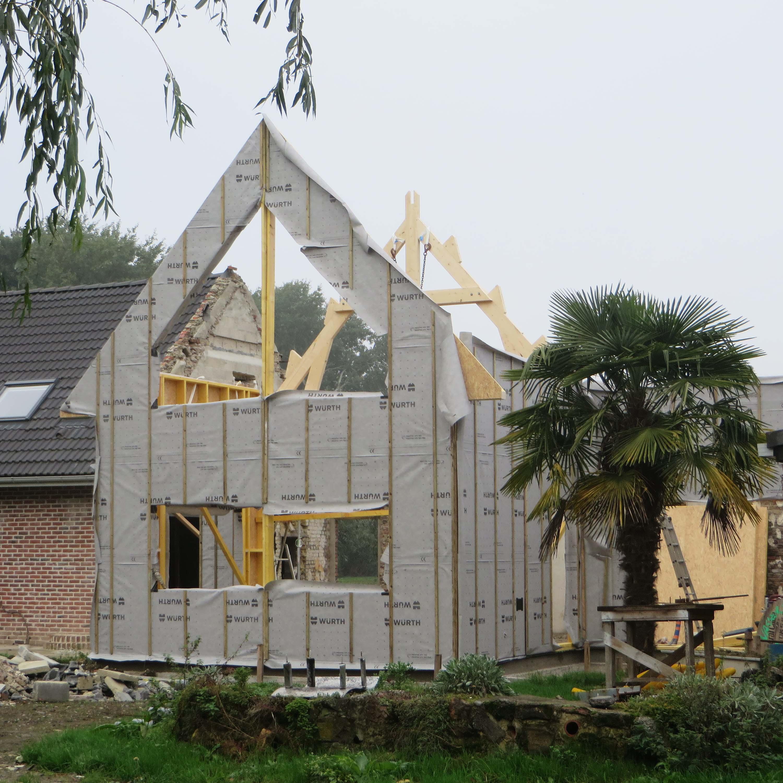 Ossature bois Merris maison particulière - Charpentier des Flandres