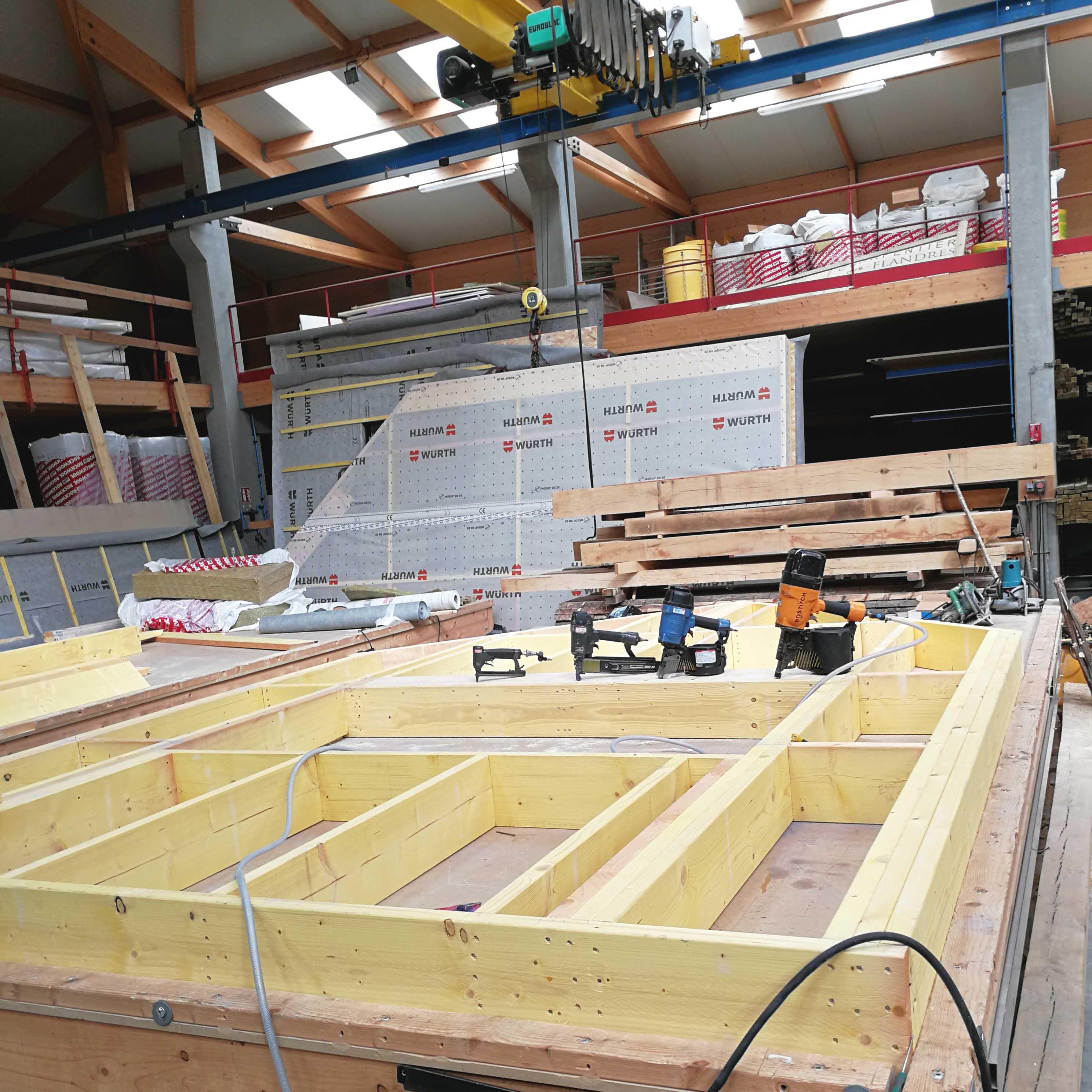Ossature bois Steenwerck maison particulière - Charpentier des Flandres