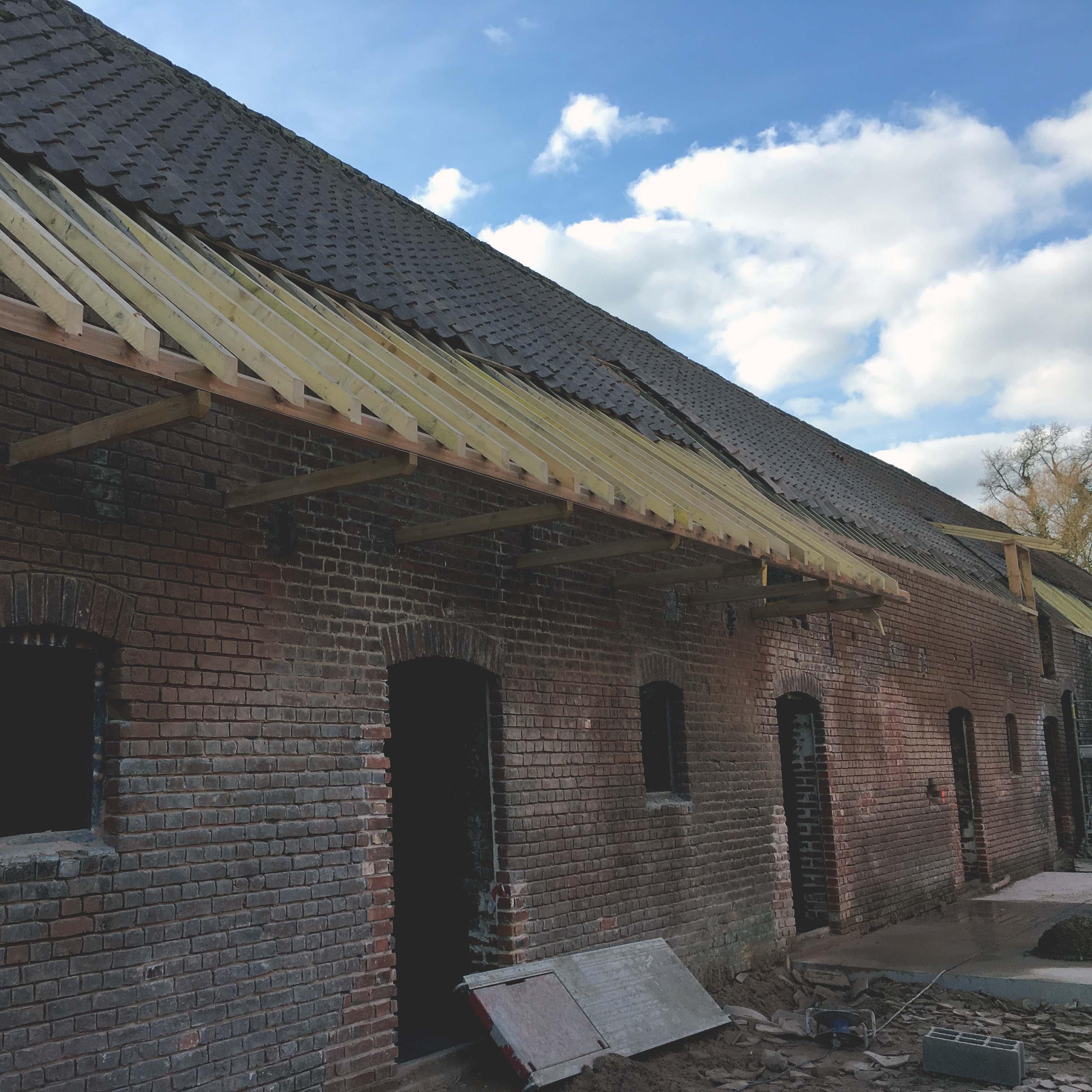 Ouvrages Spéciaux Rénovation Charpente bois Bondues ferme de l'hôtel - Charpentier des Flandres